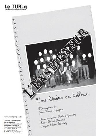 """Affiche de """"L'enseigneur"""" à Liège"""
