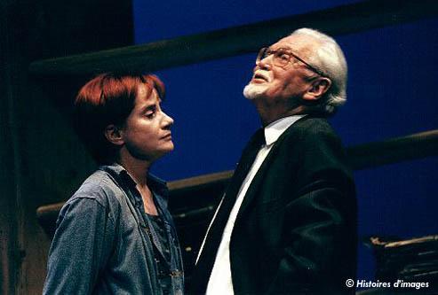 """Fanny Delbrice et René Hainaux dans """"Le vieil homme rangé"""""""